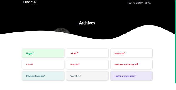 Sections using flexbox